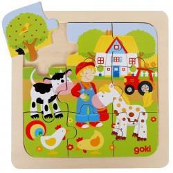 Puzzle premier âge en bois La ferme