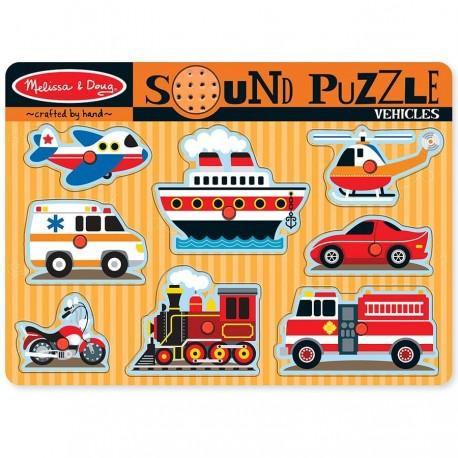 Puzzle avec sons Véhicules de transport 8 pièces