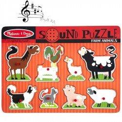 Puzzle sonore des animaux de la ferme