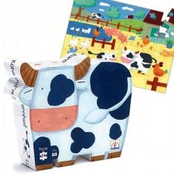 Puzzle Djeco Boite silhouette Vache 24 pcs Enfants 3 ans +
