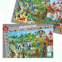 Puzzle Djeco Observation Medievales 54 pcs 4 ans +