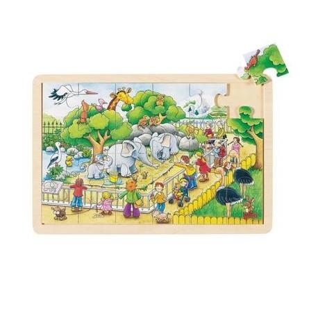 Puzzle en bois 24 pièces 20 x 30 cm Enfant 2 ans +