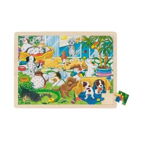 Puzzle 40 x 30 cm Jeu Jouet en bois 48 pièces Enfant 3 ans +