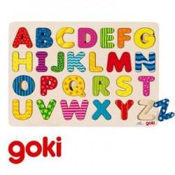 Puzzle en Bois Apprendre l'Alphabet Jeu éducatif Enfant 3 ans +