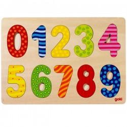 Puzzle en Bois pour apprendre les chiffres