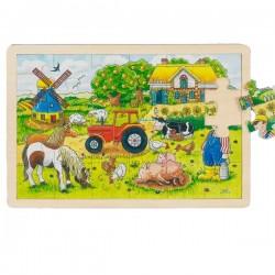 Puzzle en bois 24 pcs la ferme des meniers
