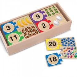 Puzzle éducatif les numéros de 1 à 20 en bois 40 pcs