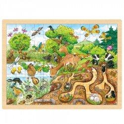 Puzzle en bois Animaux de la nature