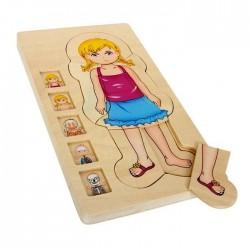 Puzzle Le corps humain en bois plusieurs couches Anatomie