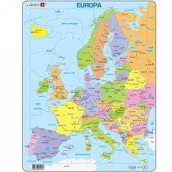 Puzzle éducatif Larsen Europe Europa en Catalan