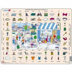 Puzzle Apprendre l'Anglais Puzzle éducatif Larsen Anglais en ville