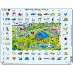 Puzzle pour apprendre L'anglais la campagne Puzzle éducatif Larsen