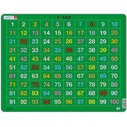 Puzzle apprendre les numéros puzzle éducatif Larsen de 1 à 100 niveau CP Enfants 6 ans +