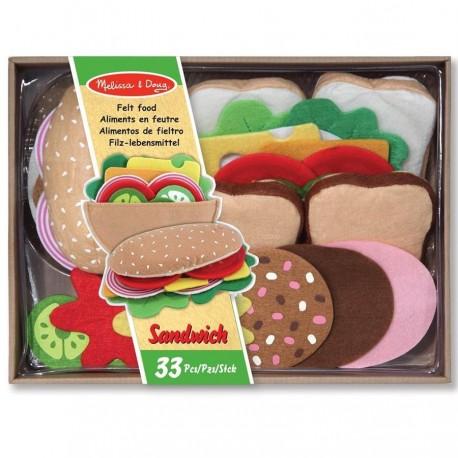 Set Sandwich en feutre Jouet de dînette pour enfants 3 ans +
