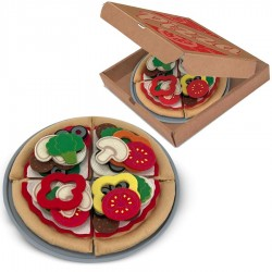 Jouet dînette enfants Set Pizza 40 pièces en feutre