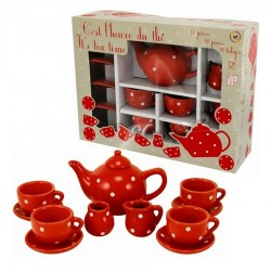 Dinette pour poupée service de thé 12 pièces