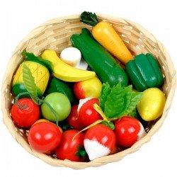Fruits et légumes en bois Jouet en bois Panier de 21 pcs