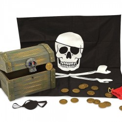 Coffre de pirate en bois 19 pcs 24 x 19 cm