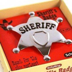 Étoile du shérif en métal