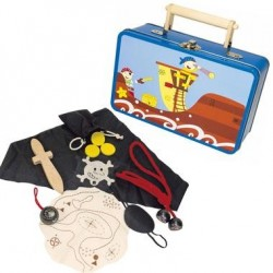 Déguisement enfant Pirate Mallette accessoires Jouet en bois 3 ans +