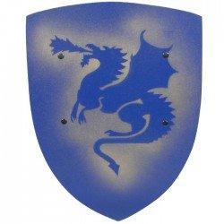 Bouclier de Chevalier en bois Dragon Bleu 42 cm