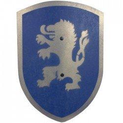 Bouclier en bois Déguisement Enfant Chevalier Lion bleu 37 cm