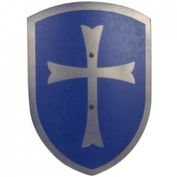 Bouclier en bois Bleu croix 37 cm Enfants