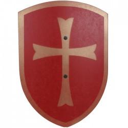 Bouclier en bois Rouge croix Déguisement Enfants