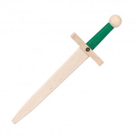 Épée Lancelot en bois Verte 48 cm