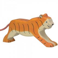 Animaux en bois tigre figurine Holtztiger