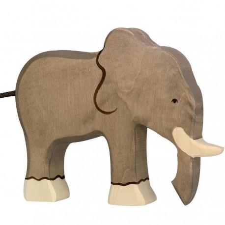 Animaux en bois éléphant figurine Holztiger