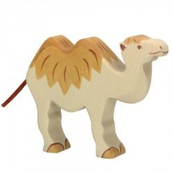Animaux en bois du désert chameau figurine Holtztiger