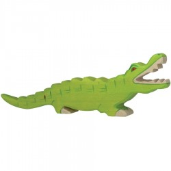 Animaux en bois jungle crocodile figurine Holztiger