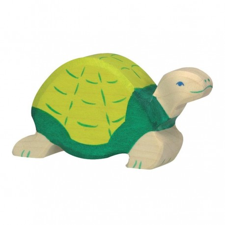 Animaux en bois tortue figurine Holztiger