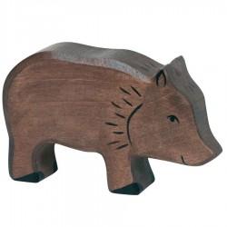 Animaux en bois de la forêt sanglier figurine Holztiger