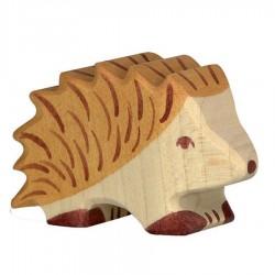 Animaux en bois hérisson figurine Holztiger