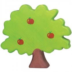 Arbre en bois arbre pommier figurine Holztiger