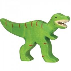 Animaux en bois dinosaure tyrannosaure figurine Holztiger