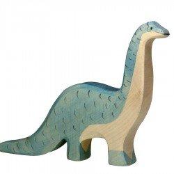 Animaux en bois dinosaure brontosaure figurine Holztiger