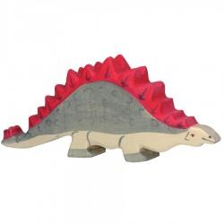 Animaux en bois dinosaure stégosaure figurine Holztiger