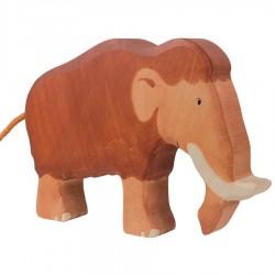 Animaux en bois préhistorique mammouth figurine Holtztiger