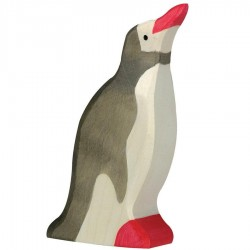 Animaux en bois pingouin figurine Holztiger