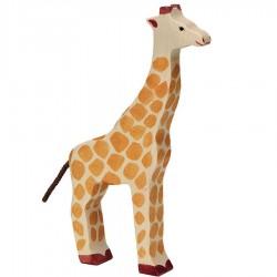 Animaux en bois girafe figurine Holztiger