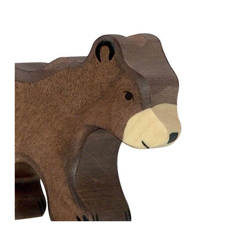 animaux en bois petit ours brun figurine holtztiger. Black Bedroom Furniture Sets. Home Design Ideas