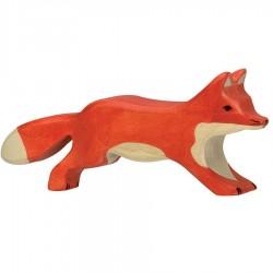 Animaux en bois renard figurine Holztiger