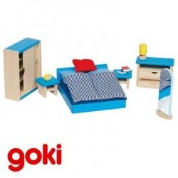 Chambre pour maison de poupée par Goki