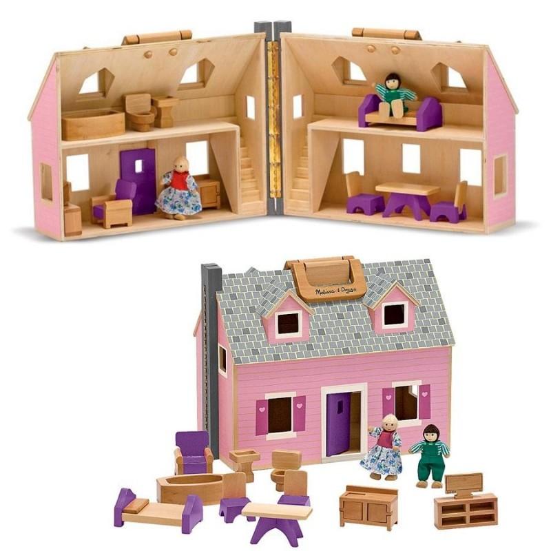 Maison de poup e en bois massif avec accessoires for Valise makita avec tous ses accessoires