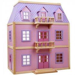 Grande maison de poupées en bois meublée