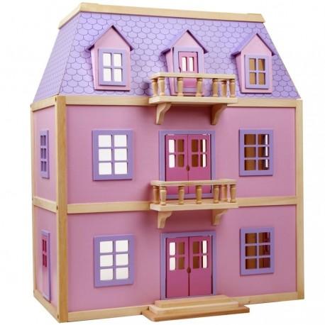 maison de poup es en bois meubl e grand mod le. Black Bedroom Furniture Sets. Home Design Ideas