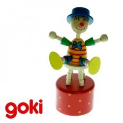 Marionnette Wakouwa clown Jouet en bois Enfant 3 ans +